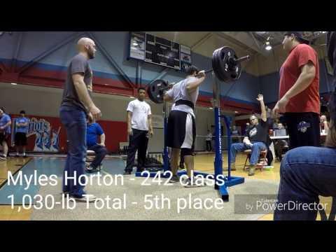 Myles Horton - SF Classic HS PL Meet (2/4/17)