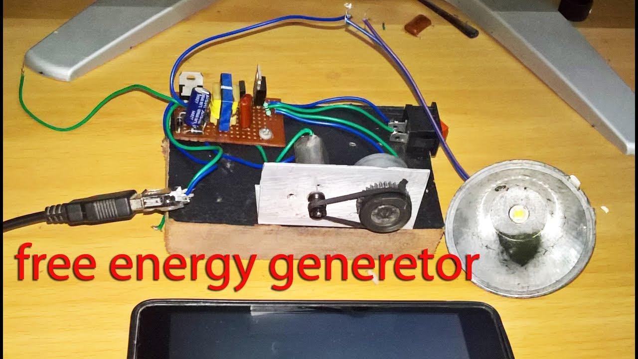 Self Running Dc Motor Generator(Mobile charger)