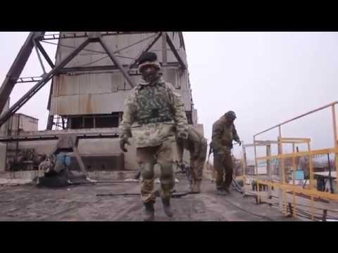 Ополченцы крушат из пулемета, позиции ВСУ. Ополчение Новороссии.