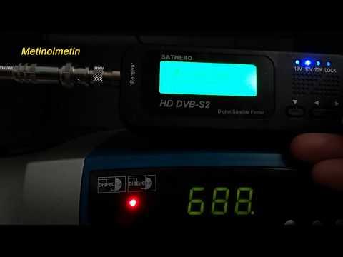SATHERO SH-100HD 29/03/2019 Güncellenmiş Uydu TP Frekansları.