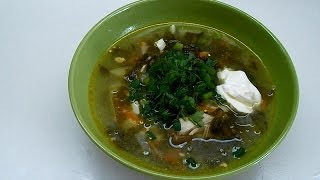 Вкусно и просто: Рецепт борща со щавелем. Пошаговый рецепт с видео.(Рецепт приготовления зеленого борща или супа со щавелем. Для такого борща, на 4-х литровую кастрюлю понадоби..., 2014-05-22T13:53:57.000Z)