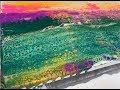 Acrylic Pour Painting: Double Swipe Landscape Technique