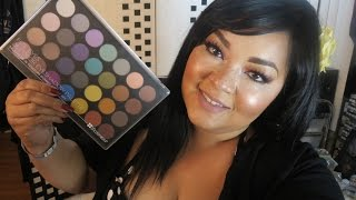 swatch review 28 foil eyeshadow palette from bh cosmetics
