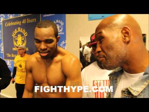 BERNARD HOPKINS VISITS JESSE HART IN CAMP; SHOWS PHILLY SUPPORT DESPITE BEING RIVAL PROMOTER