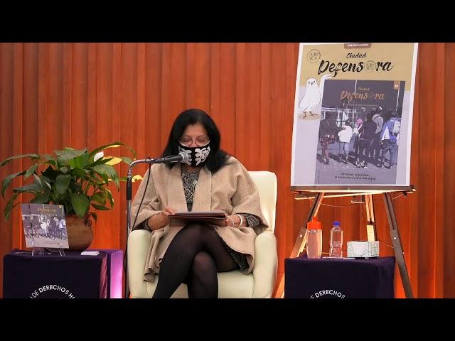 Discurso Presidenta de CDHCM en presentación de revista Ciudad Defensora sobre personas migrantes