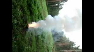Świeca dymna- test