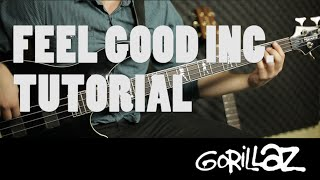 Gorillaz - Feel Good Inc. | Tutorial Bajo FÁCIL (HD)