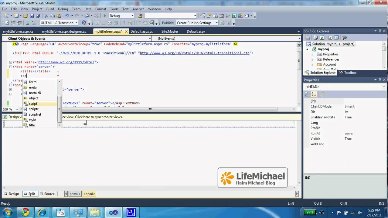 ASP.NET Tutorial 001