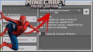 COMO FAZER UM LANÇA TEIA IGUAL DO HOMEM ARANHA NO MINECRAFT (command block)