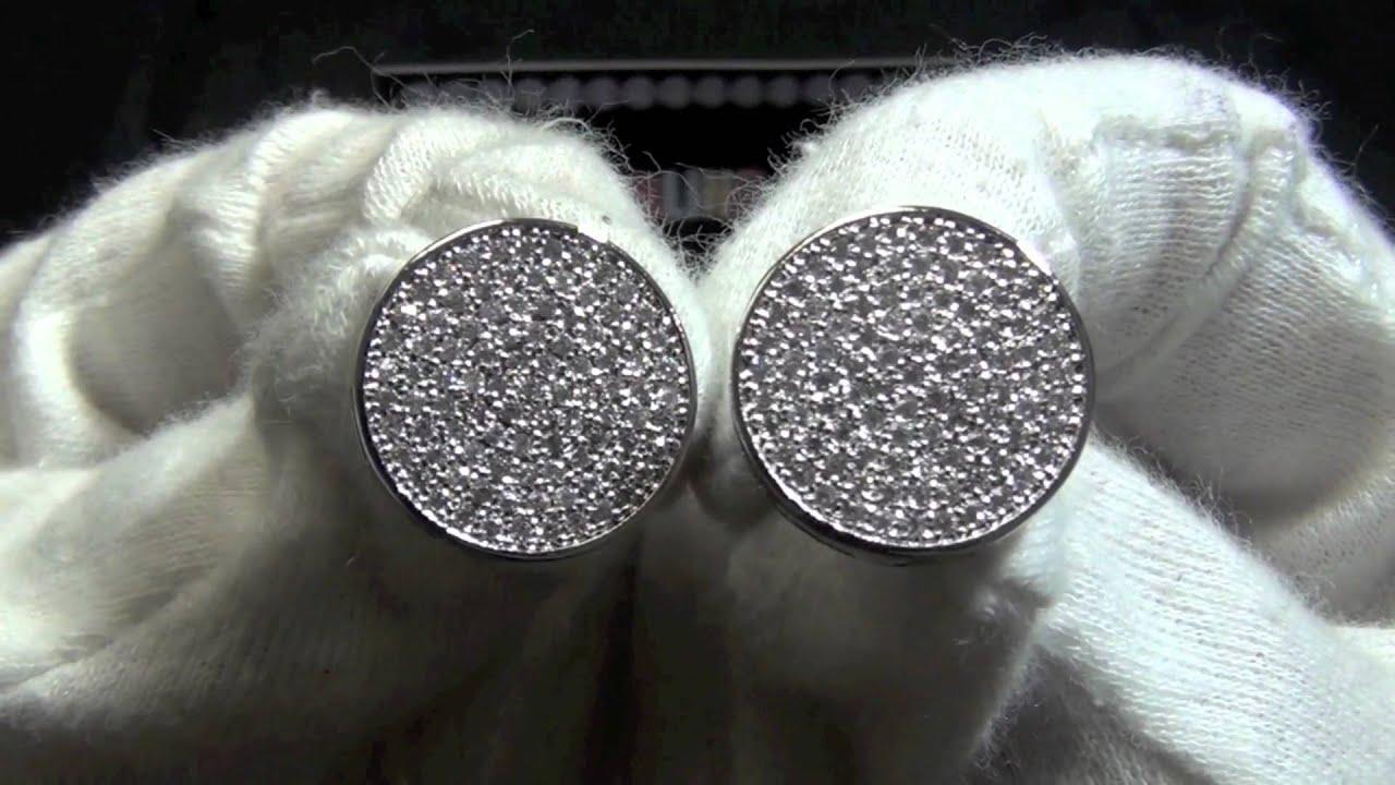 Jumbo Circle Cz Micro Pave Bling Earrings You