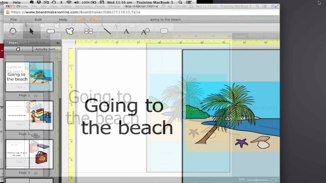 Boardmaker Online - Creating with templates - YouTube