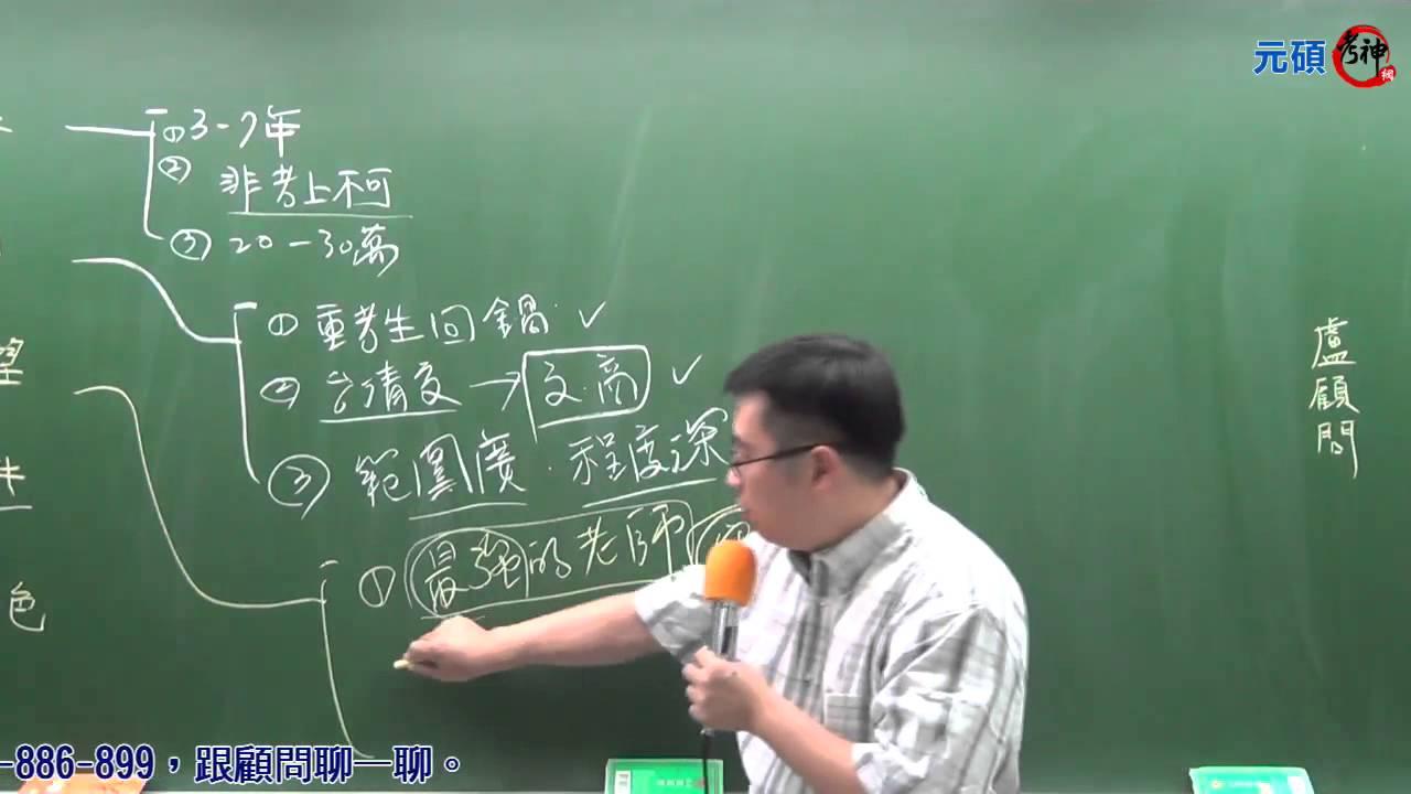 學士後中西醫快速上榜攻略(盧顧問) 【元碩/全錄@考神網】 - YouTube