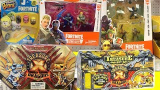 *NEW* Fortnite Mighty Beanz,Battle Royal Collection and TreasureX Dragons By Moose Toys TOY HUNT!