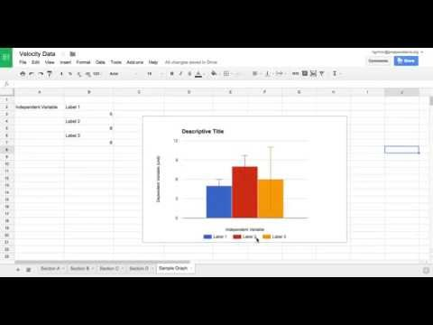 how to create a bar graph in google docs