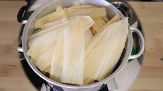 PREPARING THE TAMALES TO STEAM THEM PART 2