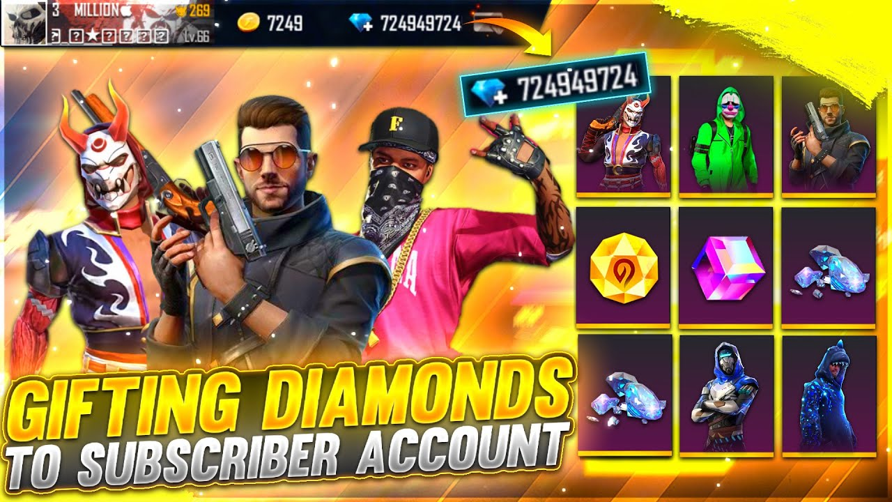 Gifting Everything In Subscriber id | Worth $50,000 Diamonds | Emotional Moment -Garena Free Fire