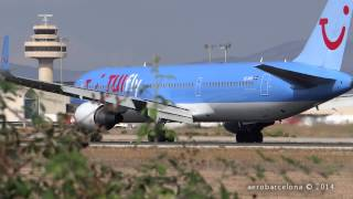 [FULL HD] Palma de Mallorca spotting 35 landings in 10 minutes