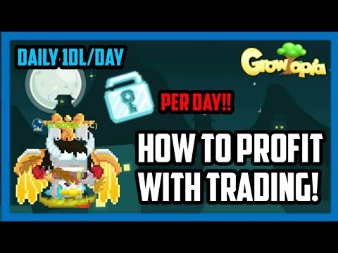 HOW TO PROFIT WITH TRADING ITEM! - Growtopia #2