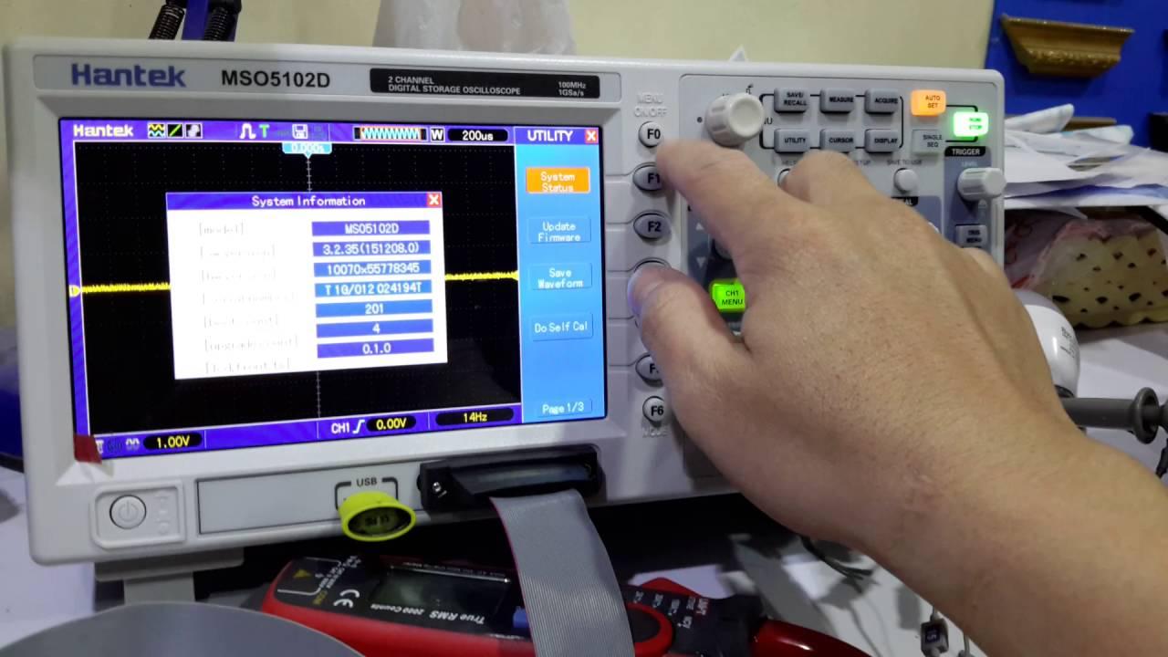 Original hantek mso5102d 2 channels 1gsa/s 100mhz 16ch logic.