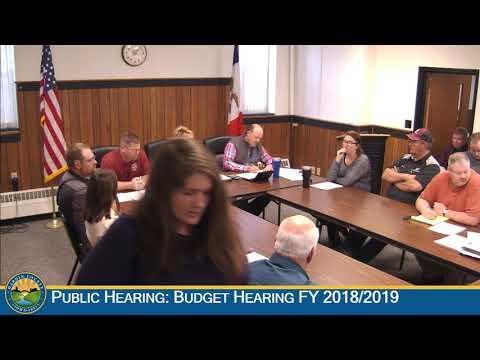 Hardin County Board of Supervisors Meeting 9-26-2018