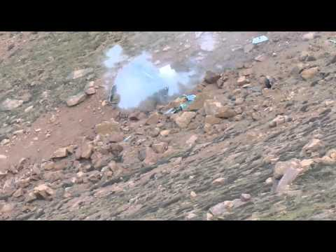 Jeremy Foley Crash - Pikes Peak International Hill Climb 2012