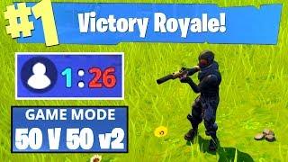 1 VS 26 - EPIC FORTNITE WIN! (50 v 50 Game Mode)