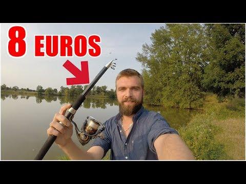 Je Peche Avec Une Canne A 8 Euros Youtube