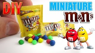 DIY Miniature M&M'S Milk Chocolate Candy Bag. DollHouse food, accessories and Toys for Barbie