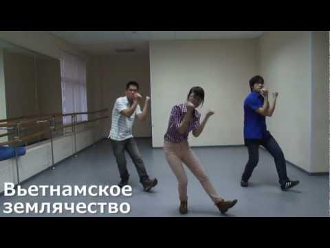 Массовый танец, движения многонациональный флешмоб