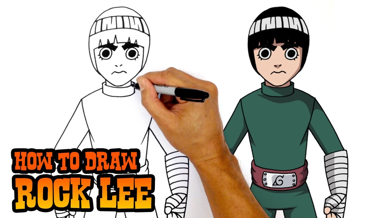 How to Draw Rock Lee   Naruto - YouTube