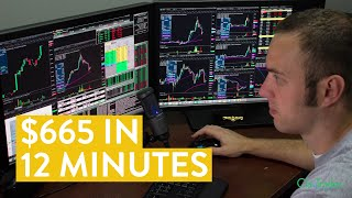 [LIVE] Day Trading | $665 in 12 Minutes (How I Make Money Online)