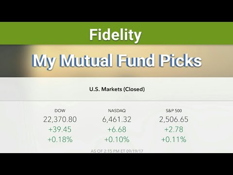 My 401K Mutual Fund Picks - Up 18% This Year! Fidelity IRA