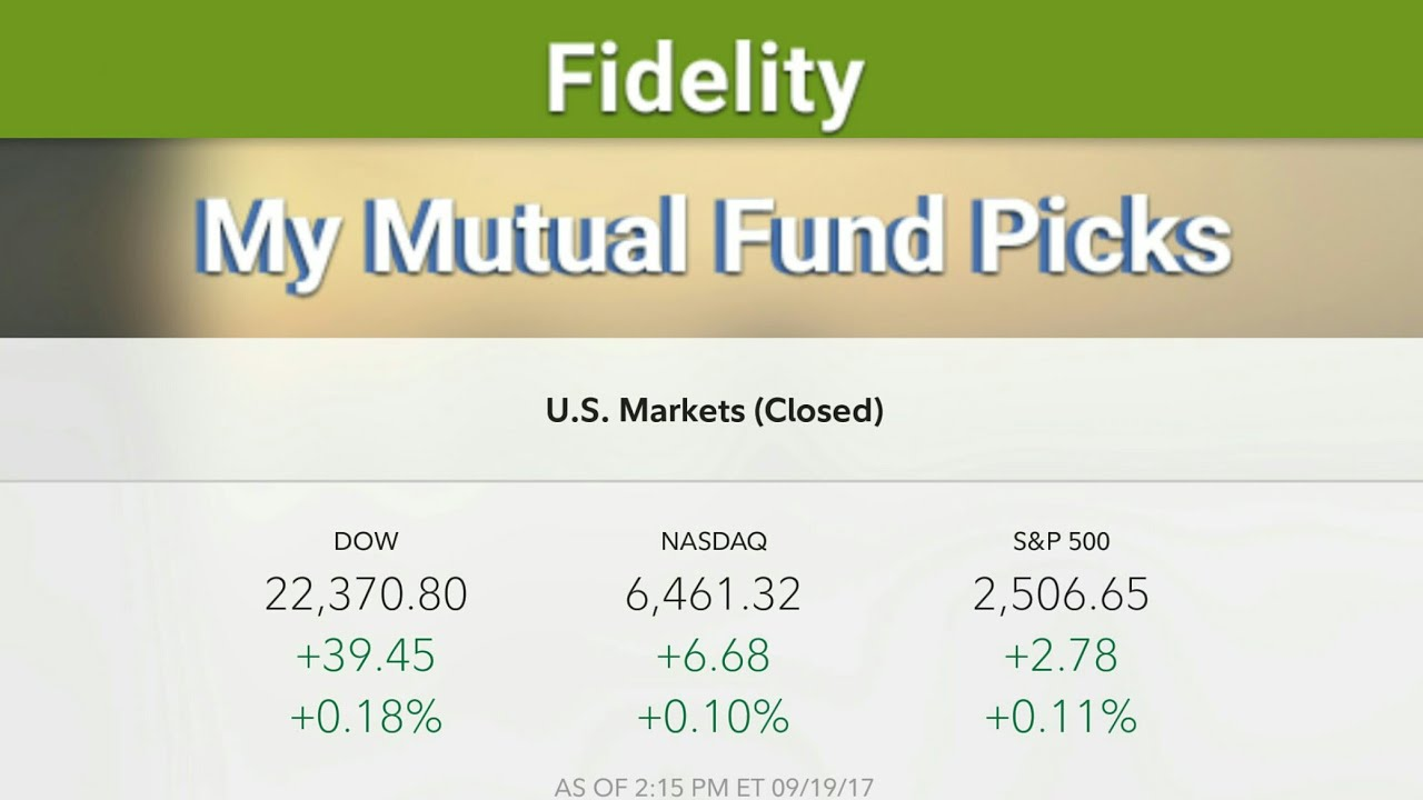 Ira Investment Choices Fidelity >> My 401k Mutual Fund Picks Up 18 This Year Fidelity Ira