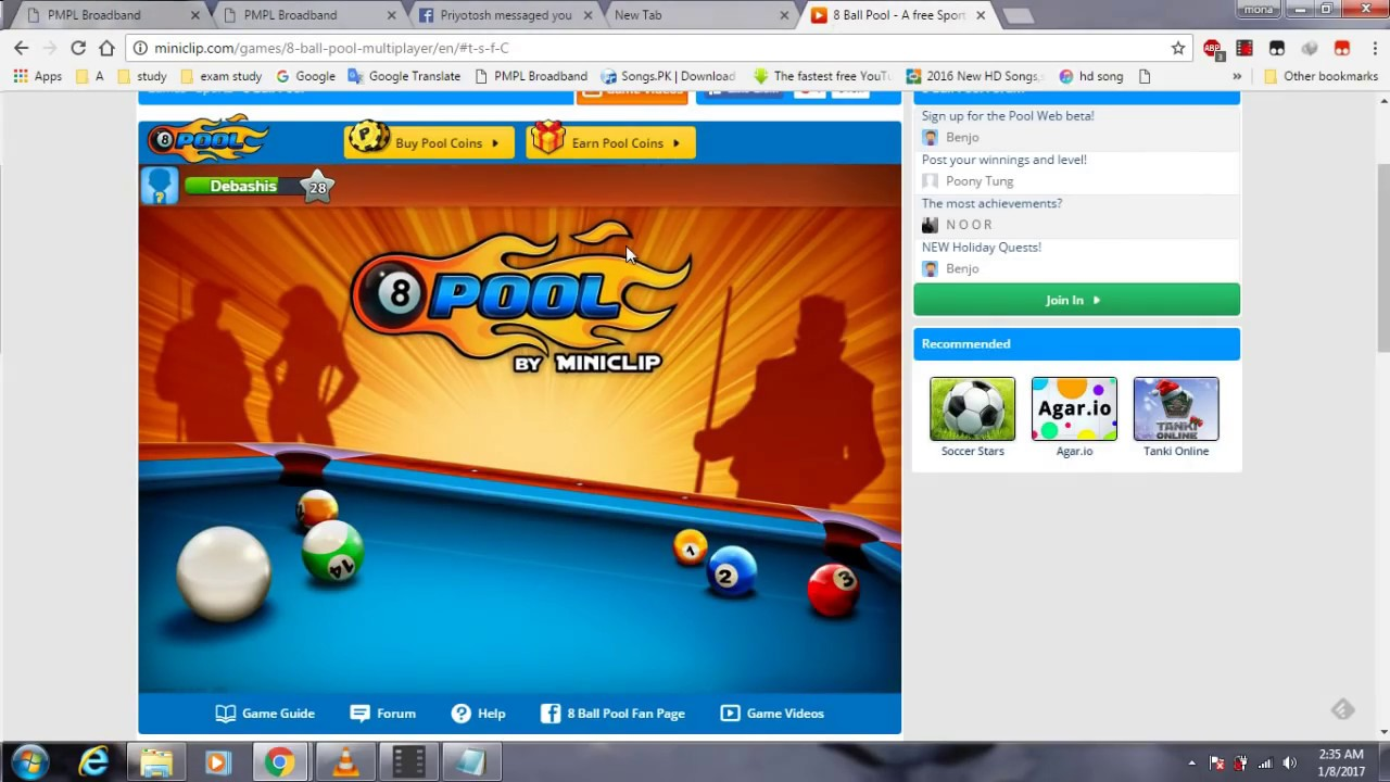 how to play 8 ball pool with friend for computer users watch and apply 100%  work.. -