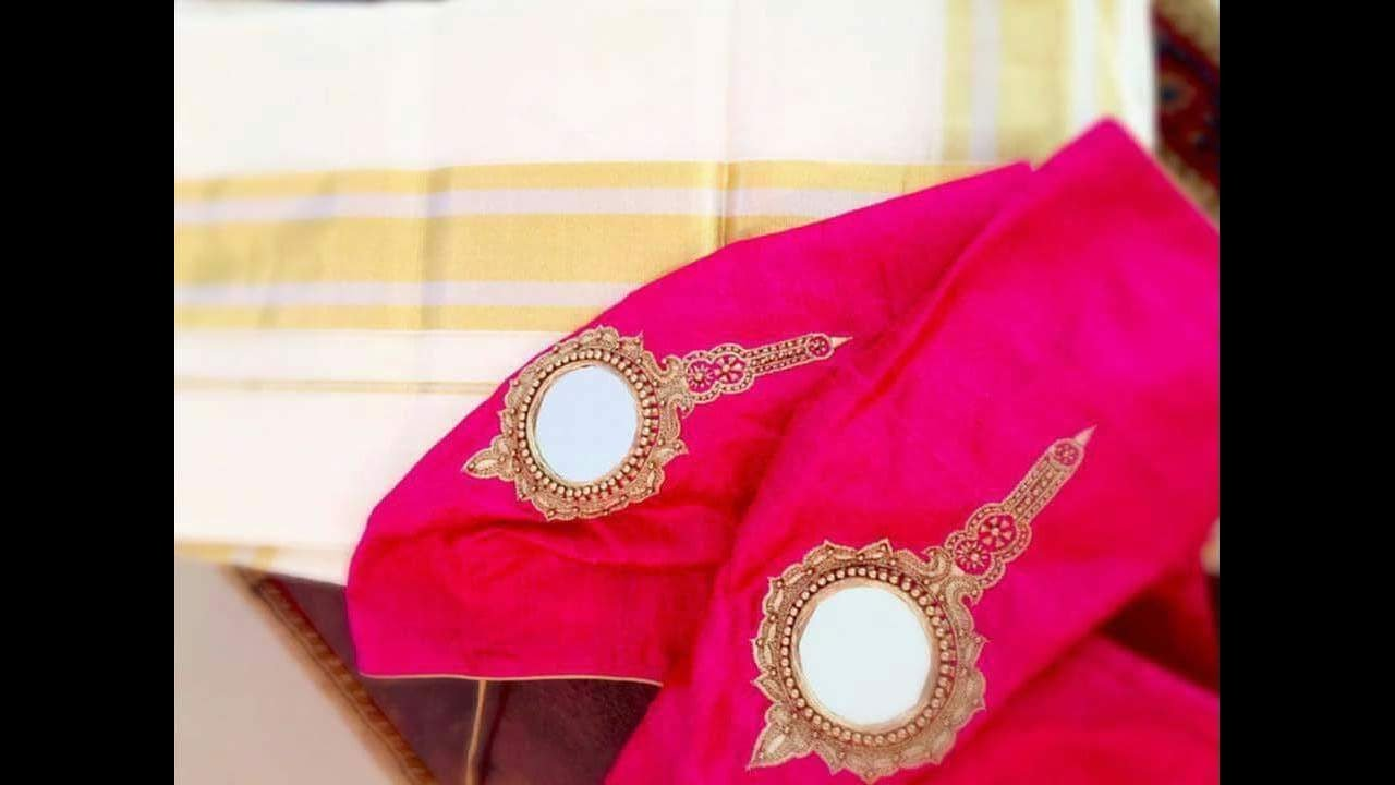 Simple Design Mirror Work Blouses Youtube
