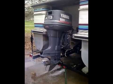 1994 yamaha outboard 115hp youtube for How to winterize yamaha outboard