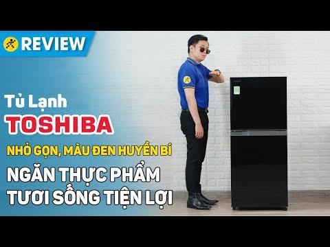Tủ lạnh Toshiba 180L: Màu đen huyền bí, ngăn thực phẩm tươi sống (GR-B22VU UKG) • Điện máy XANH