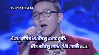 [Karaoke] Yếu Đuối - Nguyễn Hoàng Dũng    Karaoke HD Netitan
