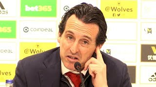 Wolves 3-1 Arsenal - Unai Emery Full Post Match Press Conference - Premier League