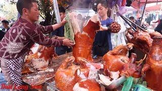 Lễ Hội Đền Bắc Nga Lạng Sơn Với Hàng Trăm Con Lợn quay phụ vụ khách mà không đủ I Thai Lạng Sơn
