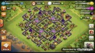 100x100 con Rompe muros!!!/Clash of Clans