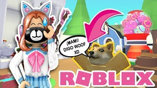 I've been singled out by a PET THAT TALKS! XD 😱 ADOPT ME ? ROBLOX IN ENGLISH 💖
