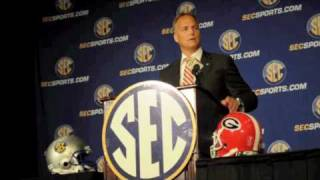 Mark Richt Addresses the Press at SEC Media Days
