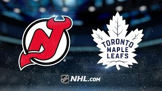 McElhinney, Nylander sharp as Leafs top Devils, 4-2