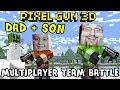 Dad & Son play Pixel Gun 3D: Heaven Garden Map (Multiplayer Server Team Battle) iOS Face Cam