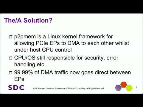 SDC 2017 - p2pmem: Enabling PCIe Peer-2-Peer in Linux