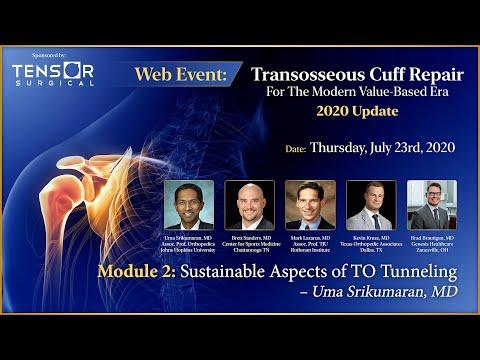Sustainable Aspects of Tensor Transosseous Tunneling for RCR – Uma Srikumaran, MD