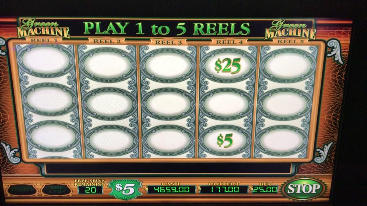 Green Machine Hand pay