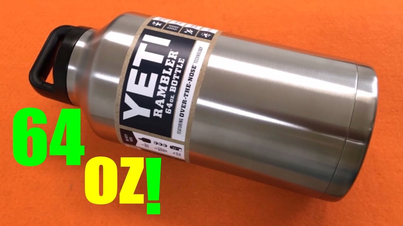 72da5b9aa6 Yeti Rambler 64 OZ Half Gallon Bottle REVIEW! HUGE Beast! - YouTube