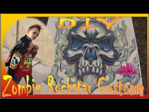 DIY Zombie Rockstar Halloween Costume - Creative Princess